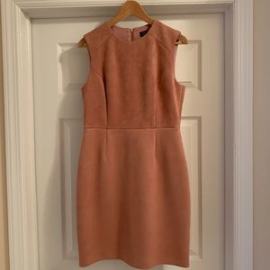 Tahari Suede Rose Pink Dress